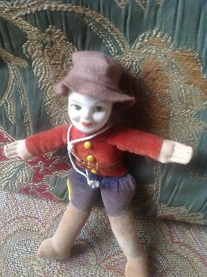 CANADIAN MOUNTIE CLOTH DOLL BY NORAH WELLINGS c1930