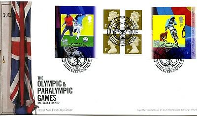 2010 Olympics 4 Great Britain Self Adhesive Retail Booklet Royal Mail Illus. Fdc