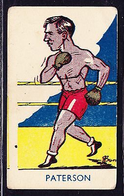 A & J Donaldson SPORTS FAVOURITES 1953 #254 Boxing Card J. Paterson *VG Cond*