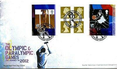 2010 Olympics 2 Great Britain Self Adhesive Retail Booklet Royal Mail Illus. Fdc