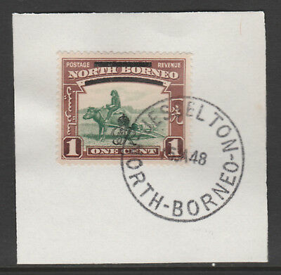 North Borneo 6008 - 1947 KG6 CROWN COLONY 1c with MADAME JOSEPH FORGED POSTMARK
