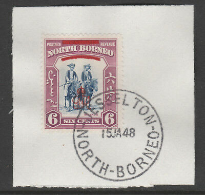 North Borneo 6012 - 1947 KG6 CROWN COLONY 6c with MADAME JOSEPH FORGED POSTMARK