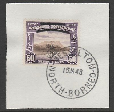 North Borneo 6019 - 1947 KG6 CROWN COLONY 50c with MADAME JOSEPH FORGED POSTMARK