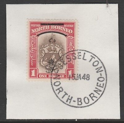 North Borneo 6020 - 1947 KG6 CROWN COLONY $1 with MADAME JOSEPH FORGED POSTMARK
