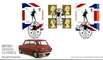 2009 Designs/miniskirt Great Britain Self Adhesive Retail Booklet Royal Mail Fdc