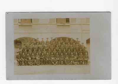 Real Photographic Postcard Royal Artillery Group 1908 Colchester Essex