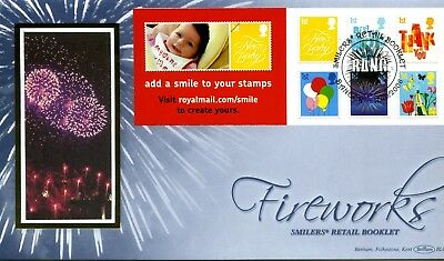 2006 GREAT BRITAIN 1st x6 SMILERS RETAIL BOOKLET BENHAM ILLUS. FDC VGC