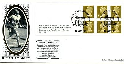 2004 GREAT BRITAIN 1st x6 OLYMPIC GAMES RETAIL BOOKLET BENHAM ILLUS. FDC VGC