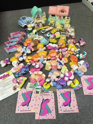 Vintage Large Fisher Price 1988 Smooshees Cuddlers Girls Toy Collection Mint NR