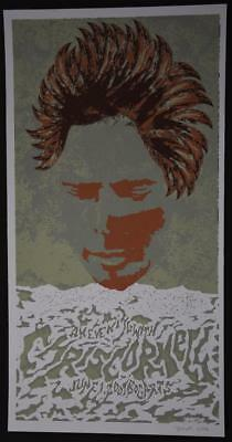 2007 Brian Methe Concert Poster CHRIS CORNELL Signed Numbered Print Screenprint