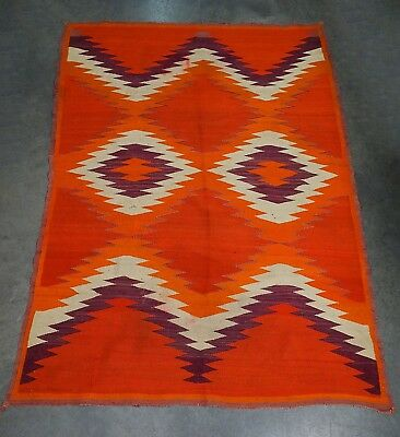 Exceptional Estate Found Early 20c American Indian Navajo Blanket Rug 78 x 56""