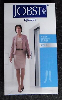 LADIES MEDICAL COMPRESSION KNEE HIGH TIGHTS, new, JOBST, black opaque, size CCL1
