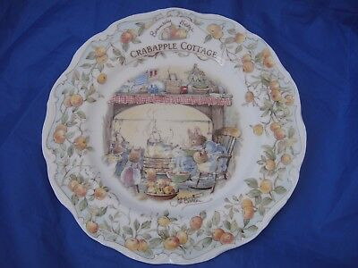 "Lovely Royal Doulton Brambly Hedge Collectors Plate ""Crabapple Cottage"""
