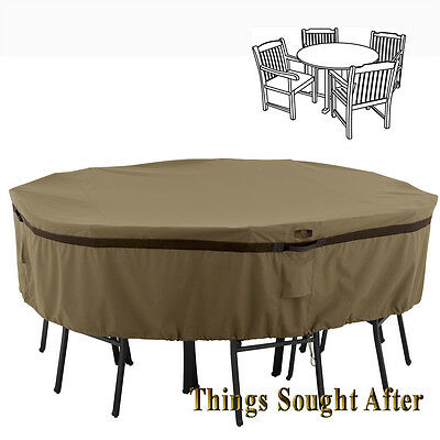 COVER for SMALL ROUND PATIO TABLE & CHAIR SET Outdoor Furniture Picnic HICKORY