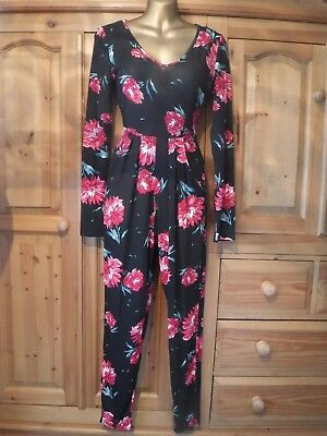 *QED London* Size 14 Red & Black Jumpsuit NEW*
