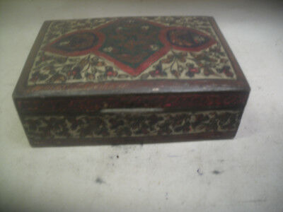 indian brass box cloisonne like