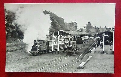 Isle of Man Railway Train Shunting at Douglas Real Photo Reopening Day1967