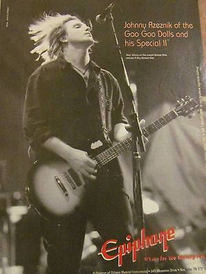 The Goo Goo Dolls, Epiphone Guitars, Full Page Vintage Promotional Print Ad