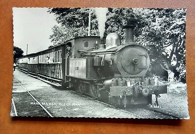 Isle of Man Manx Railway Steam Train Real Photo c1960s