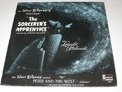 VINTAGE vinyl LP Record Disney's Peter & The Wolf Fantasia DISNEY 1242 EUC 1972