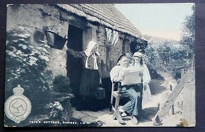 Isle of Man Pete's Cottage Ramsey 1905 Vintage Postcard