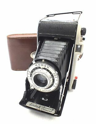 Vintage KODAK Junior II 620 Film Folding Camera W/ Dakon II Shutter & Case - F18