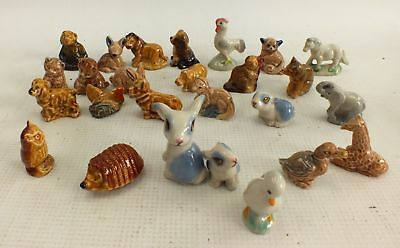 Collection of 23 x WADE Porcelain Hand Painted DECORATIVE ORNAMENTS  - L10