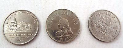 3 x Canadian Dollar Coins Different Design Coin Dollars Dated 1970 & 1977 - R05
