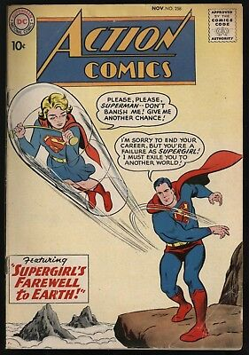 ACTION COMICS #258 2nd EVER SUPERGIRL COVER 1958 SEND TO CGC! NICE PAGE QUALITY