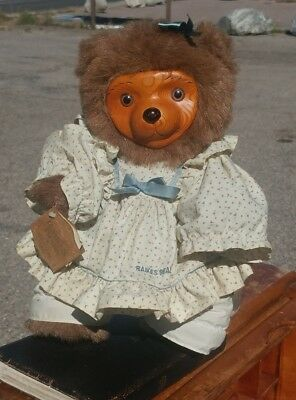 Raikes Bear 1985 Chelsea in Party Dress Limited Edition #F3267/7500 wooden face