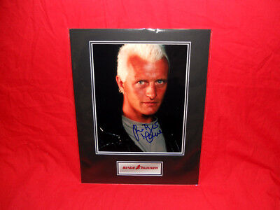 PRICE SLASHED! Blade Runner Rutger Hauer (Roy Batty) Signed 14x11 Display