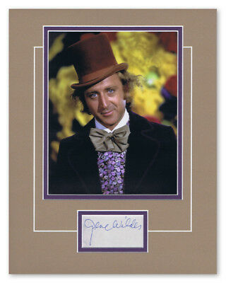 PRICE SLASHED! Willy Wonka Chocolate Factory (Gene Wilder) Signed 14x11 Display