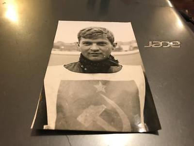 Anatoly Gruzintsev----U.s.s.r--1960's---5X3--Speedway---Portrait Photo-Original