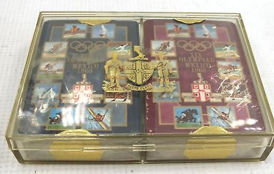 Vintage XIX OLYMPIAD Mexico 1968 PLAYING CARDS Boxed  - S35