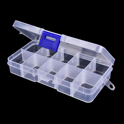 10 compartments transparent plastic fishing lure box fishing tackle case FG
