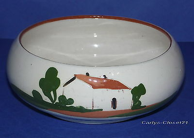 DARTMOUTH * Vintage Motto Ware Pottery Friendship Bowl * Hand Made *