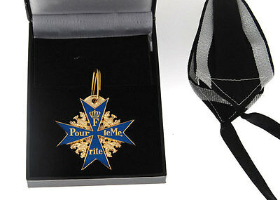 Wwi German Army Blue Max Medal Badge With Ribbon And Box -33545