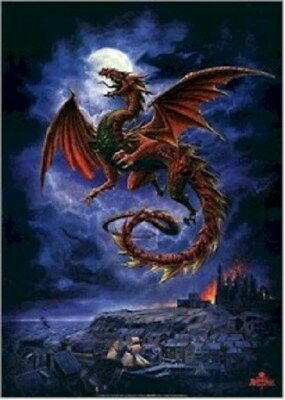WHITBY WYRM ~ ALCHEMY GOTHIC DRAGON ~ 24x36 FANTASY ART POSTER ~ OUT OF PRINT!