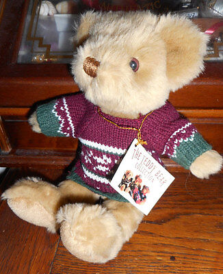 ours en peluche THE TEDDY BEAR COLLECTION pull jacquard neuf avec étiquette