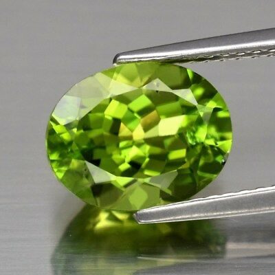 3.18ct 10x7.8mm Oval Natural Untreated Green Peridot, Pakistan