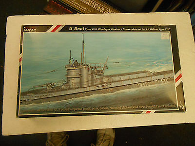 Special Navy 1/72 U-Boat Type VIID Minelayer conversion for Revell # 72005