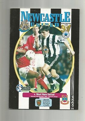Newcastle United v West Ham United 16th Nov 1996