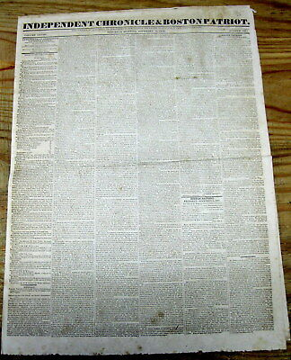 1831 newspaper w ANDREW JACKSON SPEECH defending INDIAN REMOVAL & TRAIL OF TEARS