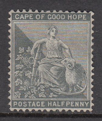 CAPE OF GOOD HOPE 1871-76 ½d Grey Black Hope Seated SG 28 mng CV £38