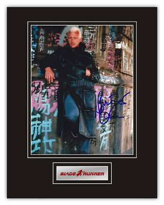 Sale! Blade Runner Rutger Hauer (Roy Batty) Signed 14x11 Display