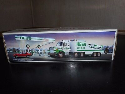1988 Hess Toy Truck  And Racer Never Removed  W/minor Box Issue