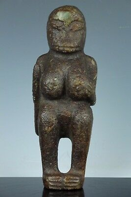 Old African Tribe Stone Woman Warrior Statue Figure Primitive Art Oct168