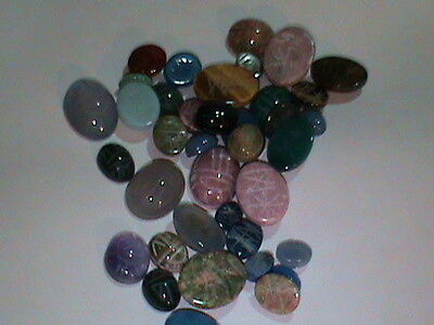 Large Lot Real Gemtones Scarabs Mix Size Carnelian Onyx's Sodalite etc. 48 ! (31