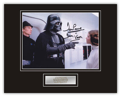 Sale! Star Wars Dave Prowse (Darth Vader) Signed 14x11 Display (DV15)