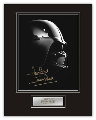 Sale! Star Wars Dave Prowse (Darth Vader) Signed 14x11 Display (DV19)